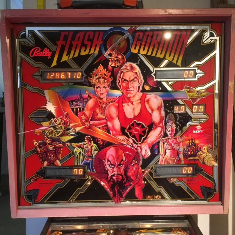 Most recent high score – Flash Gordon pinball machine with score: 1,286,710