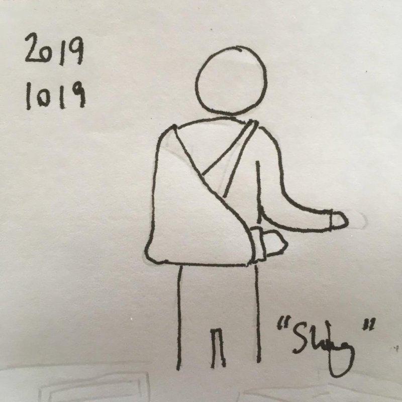 """Inktober no. 19 """"Sling"""""""