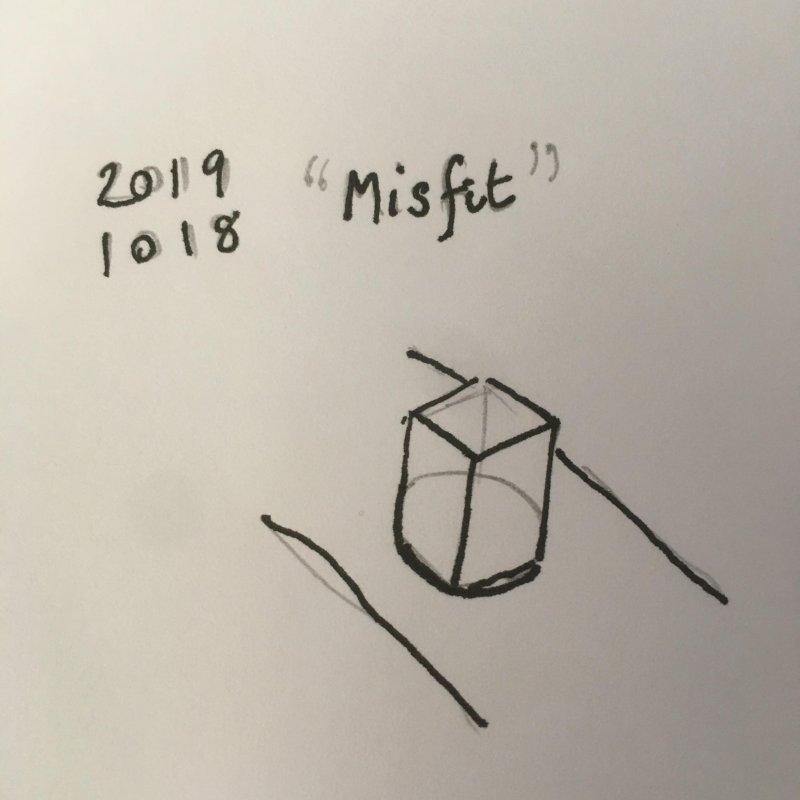 """Inktober no. 18 """"Misfit"""""""